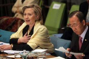 Hillary Clinton & Ban Ki Moon