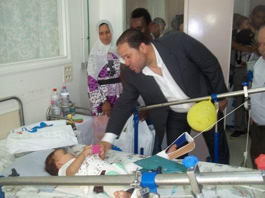 Nabil Maaloul à l'hôpital d'enfants