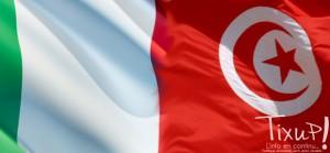 Italie - Tunisie - Flag