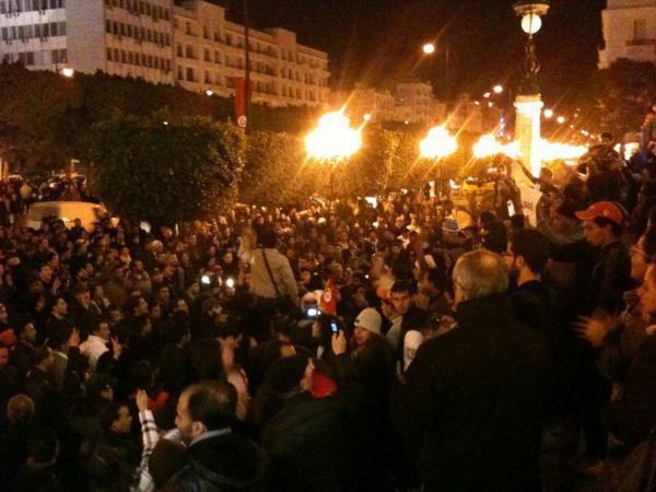 Manifestation Avenue Habib Bourguiba