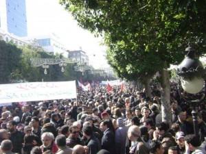 Manifestation Tunisie 25 février