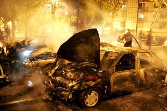 voitures brulees incendie