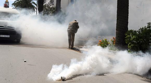 Gaz lacrymogène - Tunis