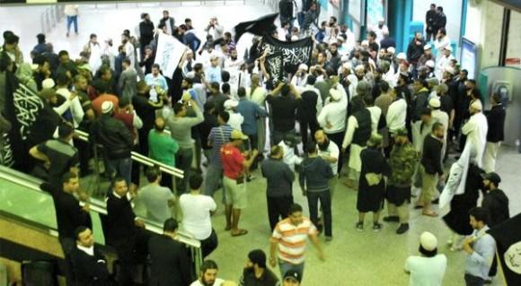 Les Salafistes à Aéroport Tunis-Carthage