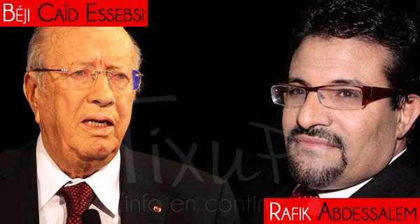 Béji Caïd Essebsi - Rafik Abdessalem Bouchlaka