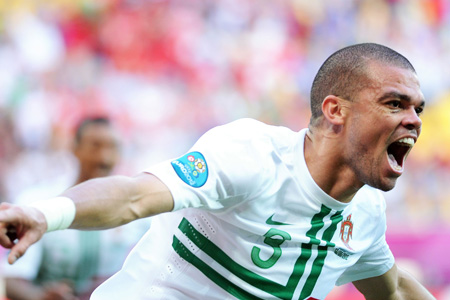 Pepe - Euro 2012: Portugal - Danemark