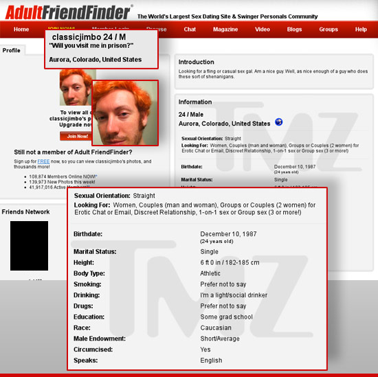 James Holmes - AdultFriendFinder