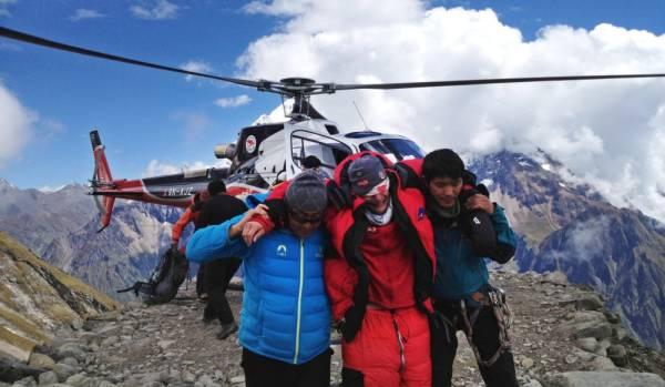 Avalanche au Népal