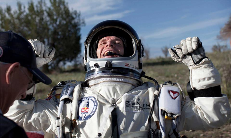 Felix Baumgartner on the ground