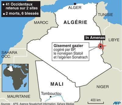 Le site gazier BP d'In Amenas en Algérie