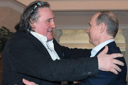 Gérard Depardieu accueil à bras ouverts par Vladimir Poutine