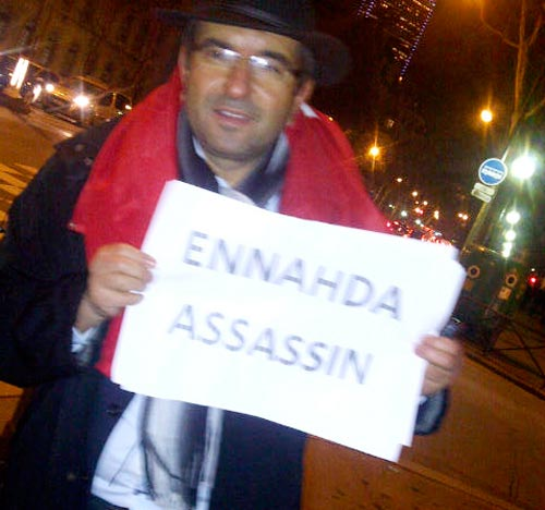 Manifestant tunisien à Paris