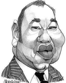 Caricature du roi Mohamed VI