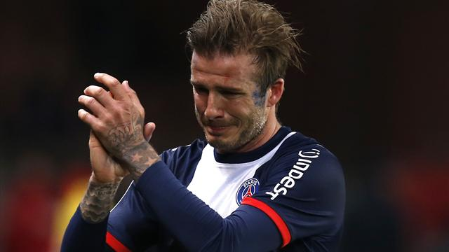 David Beckham fte sa fin de carrire avec des larmes