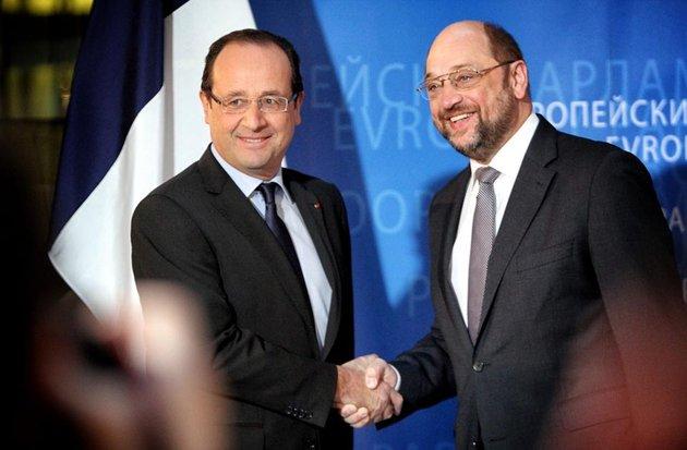 Martin Schulz et Hollande