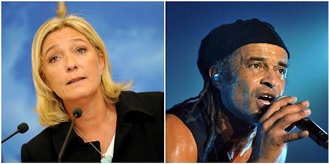 Marine Le Pen et Yannick Noah