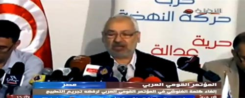 R. Ghannouchi 'persona non grata' au Congrès Nationaliste Arabe