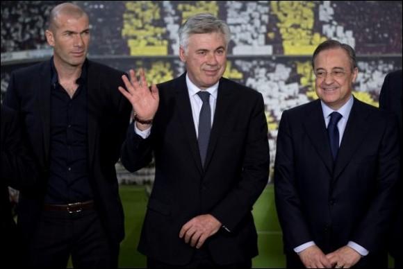 Zidane, Ancelotti et Perez
