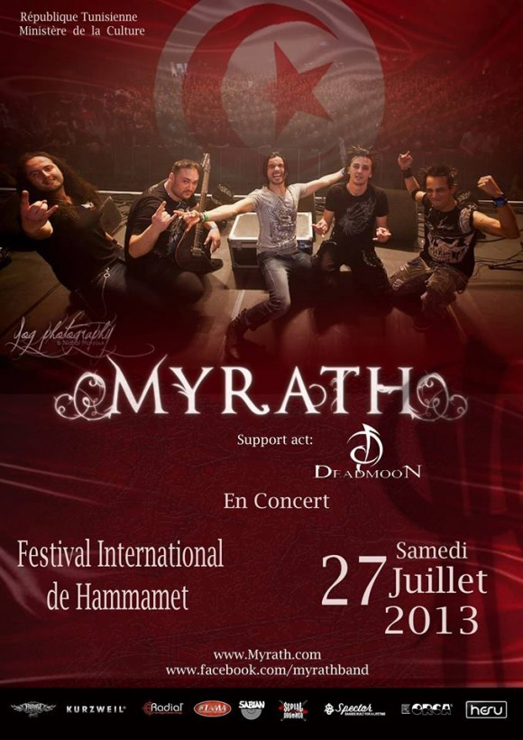 Myrath au Festival International de Hammamet 2013