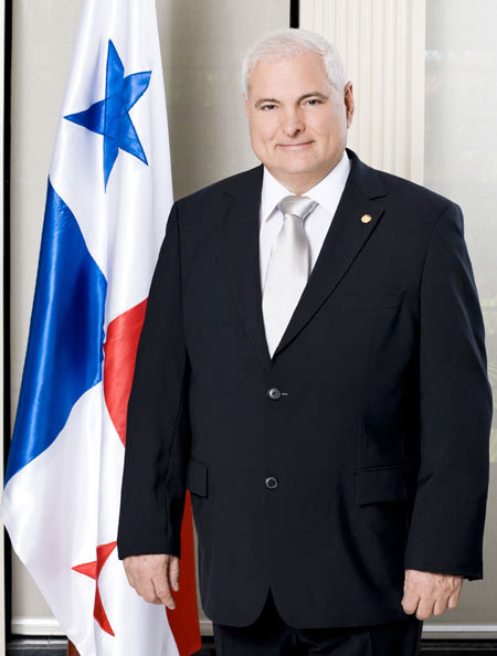 Le président du Panama Ricardo Martinelli. (Archives)  Photo :  AFP/LEO RAMIREZ