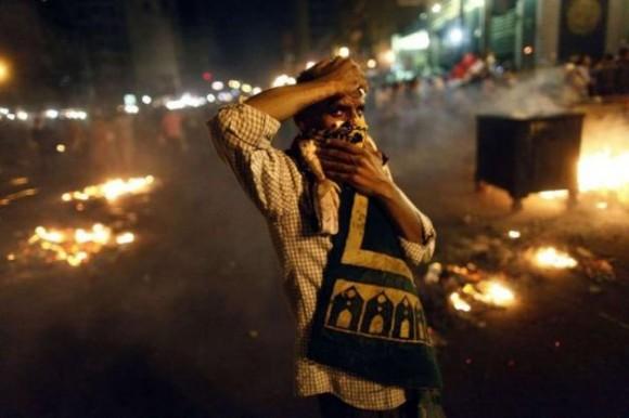 Un partisan des Frères musulmans et du président déchu Mohamed Morsi, lors des manifestations du 16 juillet 2013  Photo :  AFP/MAHMOUD KHALED