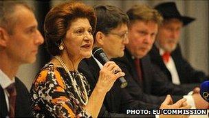 Mme Vassiliou a visité Kosice en Janvier pour lancer des événements culturels