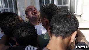 Les victimes palestiniennes ont été emmenés à l'hôpital dans les environs de Ramallah