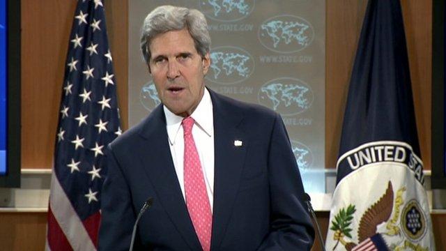 """John Kerry: «Il ya une raison évidente que le monde a totalement interdit l'utilisation d'armes chimiques"""""""