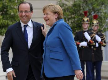 François Hollande avec Angela Merkel, à l'Elysée mercredi