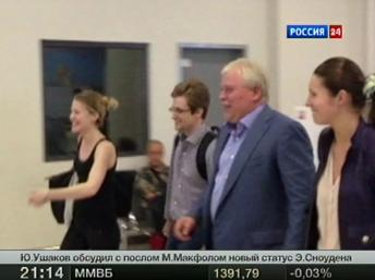 Whistleblower Edward Snowden à l'aéroport de Moscou plus tôt ce mois-ci