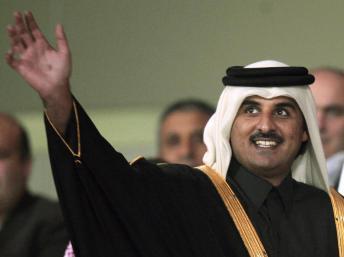 L'Emir du Qatar Cheikh Hamad Ben Tamin al-Thani