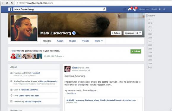 Lec compte de Mark Zuckerberg