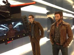 Hugh Jackman et Bryan Singer en plein tournage.