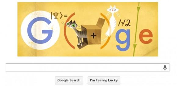 Doodle Google rend homme au physicien Erwin Schrödinger
