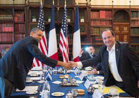 Obama et Hollande détermines à frapper la Syrie