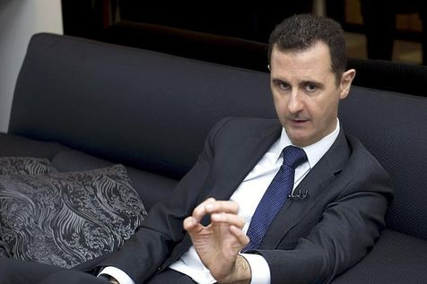 Bachar al-Assad à Damas en juin. (Photo Sana. Reuters)