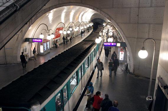 Le métro parisien. - AFP