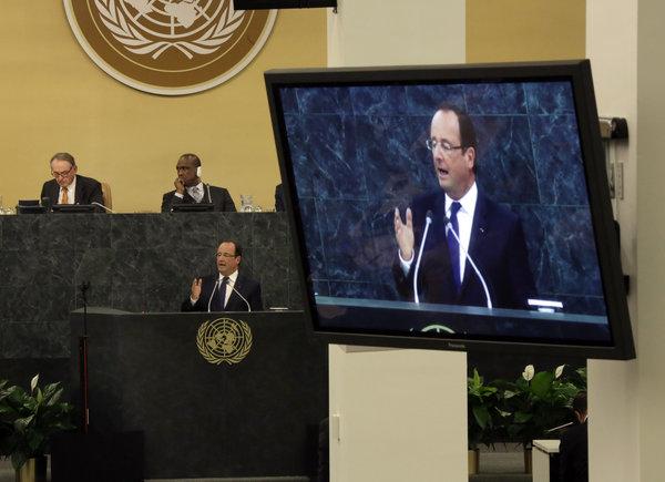 Le président François Hollande de France a fait appel à l'Assemblée générale de l'ONU de lancer une mission de financer et de former les armées africaines à se défendre contre le terrorisme.