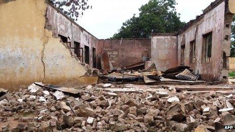 Les militants sont régulièrement ciblés dans des écoles dans Yobe, comme celui-ci dans Mamudo.