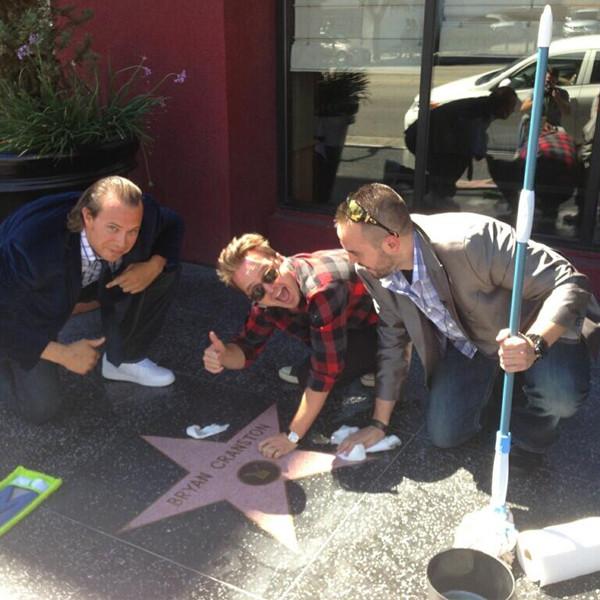 L 'étoile de Bryan Cranston sur le Hollywood Walk of Fame.