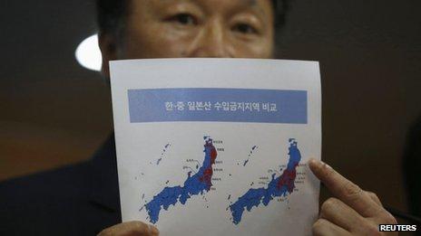 La nouvelle interdiction étend les restrictions existantes sur les importations de pêche japonais