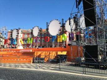 La scène principale Jeux de la Francophonie à Nice, France.