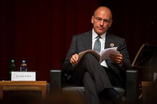 Premier ministre italien Enrico Letta assister à la séance d'ouverture de Bled Strategic Forum à Bled, le 2 Septembre 2013.