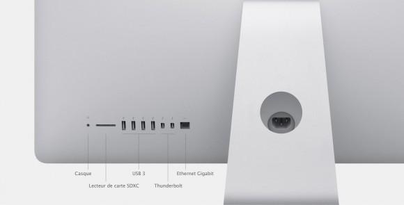 Les nouveaux iMacs.