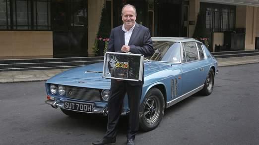 William Boyd lors du lancement du livre à Londres.