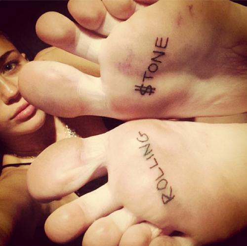 Le nouveau tatouage de Miley Cyrus