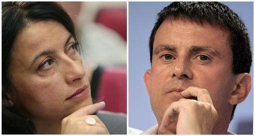 Cécile Duflot et Manuel Valls, le 27 Septembre 2013 / AFP PHOTO KENZO TRIBOUILLARD / XAVIER Leoty
