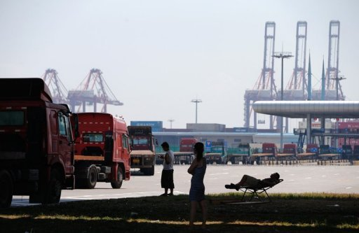 Port de Yangshan, un des quartiers qui seraient inclus dans la zone de libre-échange de Shanghai (FTZ) est photographié le 30 Juillet 2013.