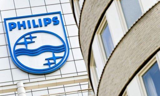 Le logo Philips à l'extérieur des bureaux de l'entreprise à Amsterdam en Avril 2011.
