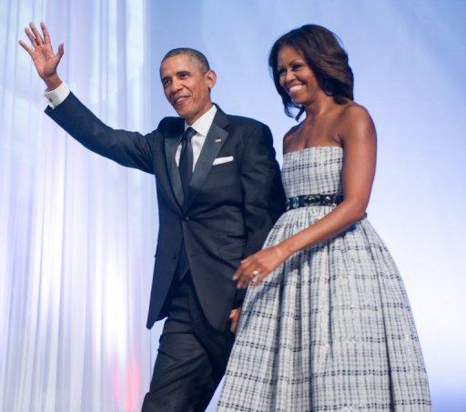 Le président américain Barack Obama et la Première Dame Michelle, représentés à Washington, DC le 21 Septembre 2013.